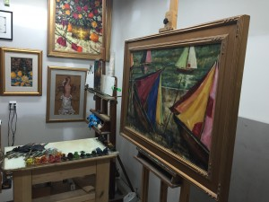 Richard Wieth's art studio