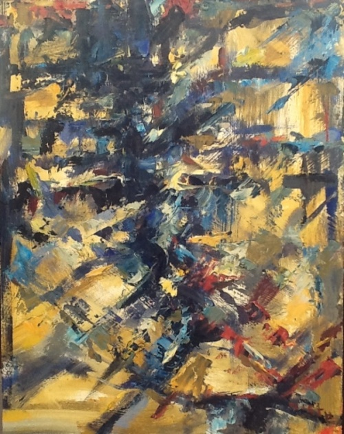 Abstract with Blue 14x11 oil