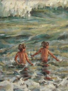 "Playing to the Tide 12""x16"" Oil"