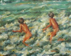 Skinny Dipping 16x20 oil
