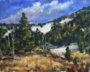 Blues sky Landscape 16x20 oil