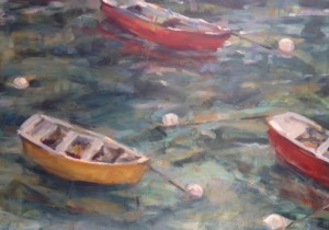 Boats 16x20 oil