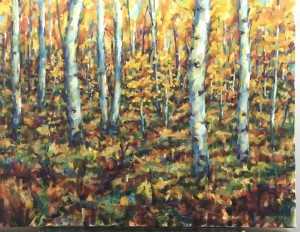 Commision Aspen Trees 24x36 oil