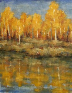Reflecting Aspens 11x14 oil