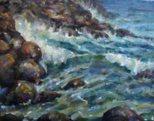 Sea Wall 16x20 oil