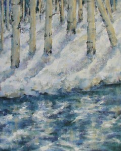 Snow Shadows 20x16 oil