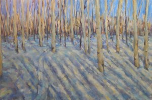 Snow Shadows 24x36 oil
